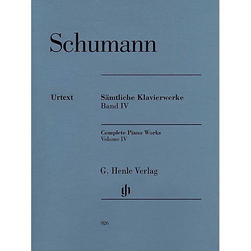 G. Henle Verlag Complete Piano Works - Volume 4 Henle Music Softcover by Robert Schumann Edited by Ernst Herttrich