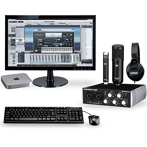 apple complete recording studio with mac mini v5 mgem2ll a musician 39 s friend. Black Bedroom Furniture Sets. Home Design Ideas