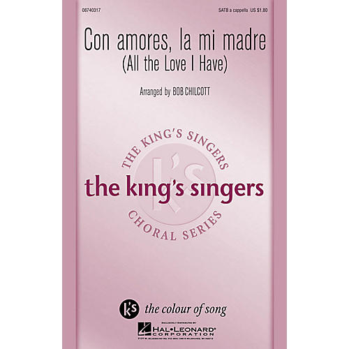 Hal Leonard Con amores, la mi madre SATB a cappella by The King's Singers arranged by Bob Chilcott-thumbnail