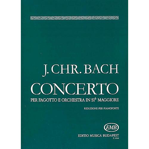 Editio Musica Budapest Conc in B Flat (Bassoon with Piano Accompaniment) EMB Series by Johan Sebastian Bach-thumbnail
