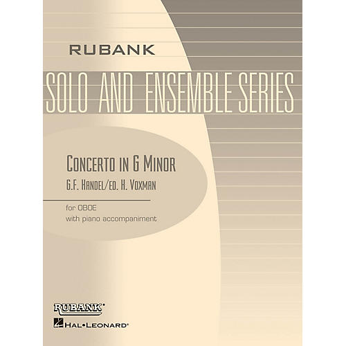 Rubank Publications Conc in G Min (Oboe Solo with Piano - Grade 4) Rubank Solo/Ensemble Sheet Series-thumbnail