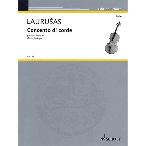 Schott Concento di corde (for 2 Violoncellos - Performance Score) Schott Series Composed by Vytautas Laurusus-thumbnail