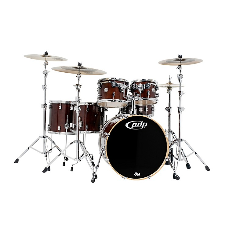 PDP Concept Birch 6-Piece Shell Pack Transparent Walnut