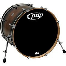 PDP by DW Concept Exotic Series Bass Drum Walnut to Charcoal Burst 22 x 18 in.