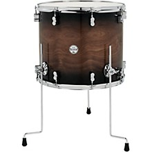 PDP by DW Concept Exotic Series Floor Tom Walnut to Charcoal Burst 18 x 16 in.