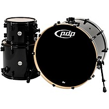 """PDP by DW Concept Maple 3-Piece Shell Pack with 24"""" Bass Drum Pearlescent Black"""