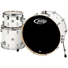 """PDP by DW Concept Maple 3-Piece Shell Pack with 24"""" Bass Drum Pearlescent White"""