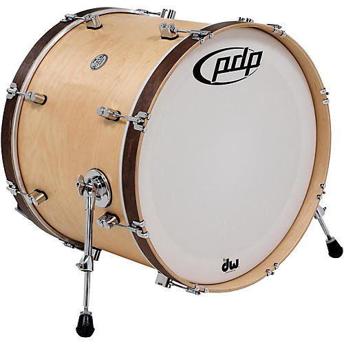 PDP Concept Maple Classic Bass Drum with Tobacco Hoops 24 x 14 in. Natural