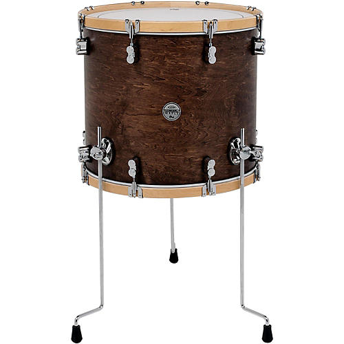DW Concept Maple Classic Floor Tom with Natural Hoops 14 x 14 in. Tobacco