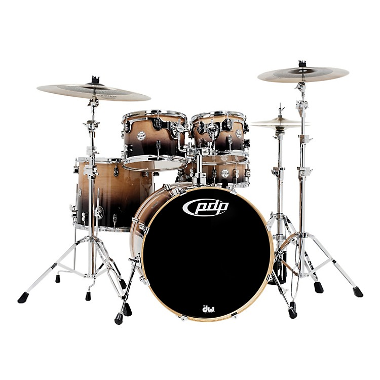 PDP Concept Maple by DW 5-Piece Shell Pack Transparent Walnut