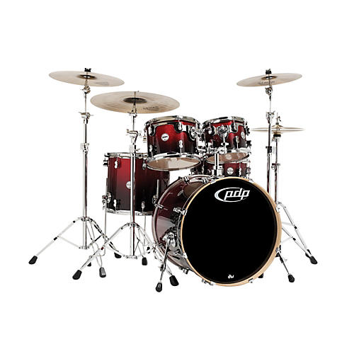 PDP Concept Maple by DW 5-Piece Shell Pack Red To Black Fade