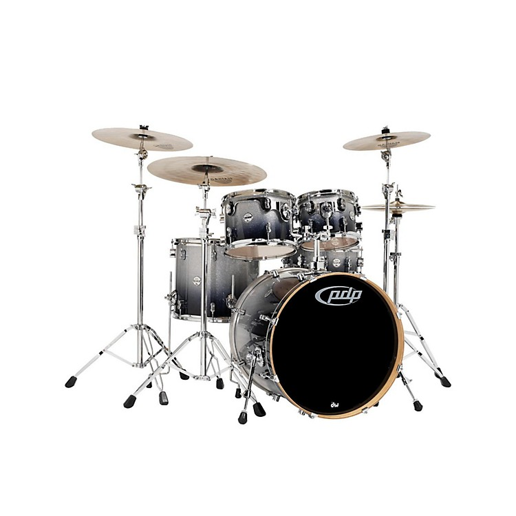 PDP Concept Maple by DW 5-Piece Shell Pack Silver to Black Fade