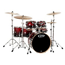 PDP by DW Concept Maple by DW 6-Piece Shell Pack Red To Black Fade