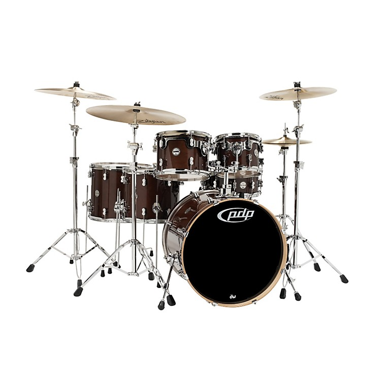 PDP Concept Maple by DW 6-Piece Shell Pack Transparent Walnut