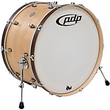 PDP by DW Concept Series Classic Wood Hoop Bass Drum 26 x 14 in. Natural/Walnut