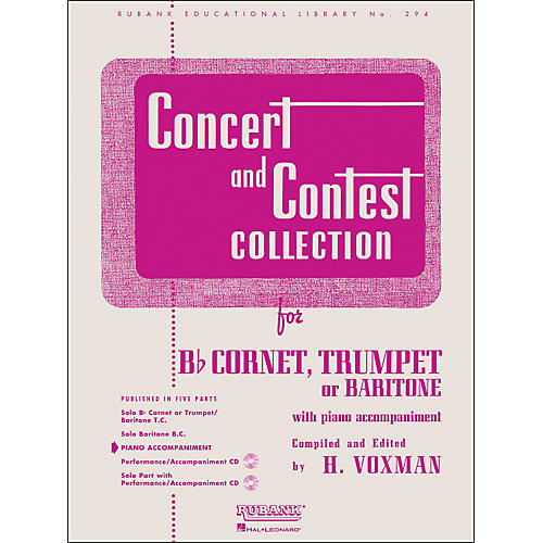 Hal Leonard Concert And Contest Collection - B Flat Cornet Trumpet Or Solo Baritone with Piano Accompaniment-thumbnail
