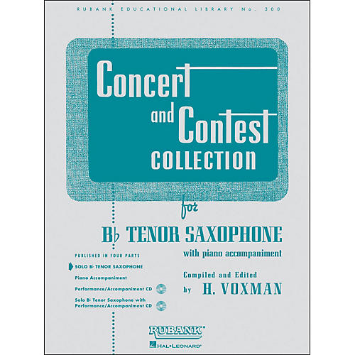 Hal Leonard Concert And Contest Collection B Flat Tenor Saxophone Solo Part Only-thumbnail