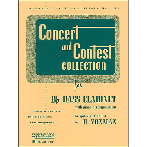 Hal Leonard Concert And Contest Collection for B Flat Bass Clarinet Solo Part Only-thumbnail