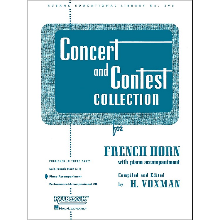 Hal Leonard Concert And Contest Collection for French Horn In F Piano Accompaniment Only