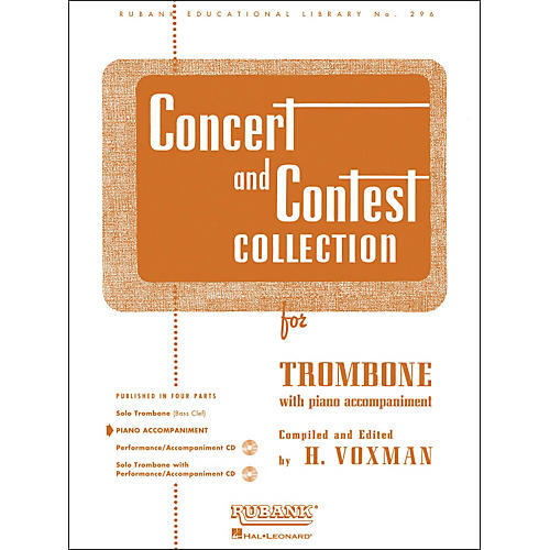Hal Leonard Concert And Contest Collection for Trombone - Piano Accompaniment Only