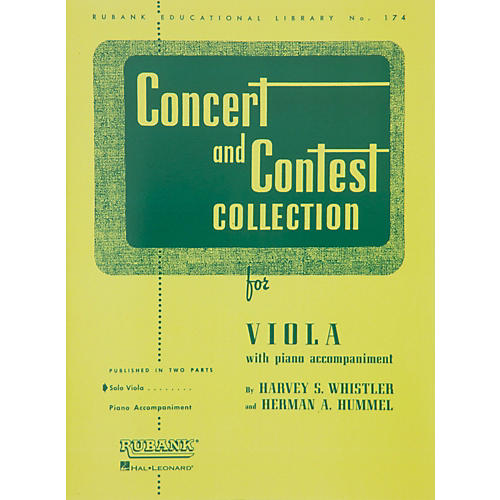 Hal Leonard Concert And Contest Collection for Viola Solo Part Only-thumbnail