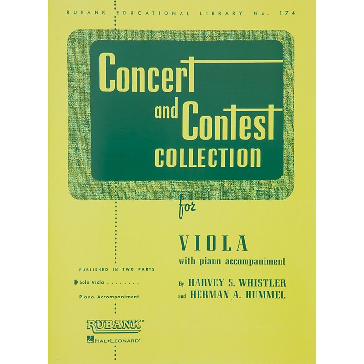 Hal LeonardConcert And Contest Collection for Viola Solo Part Only