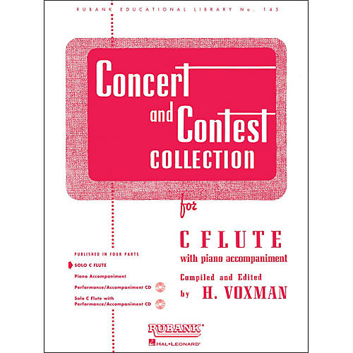 Hal Leonard Concert And Contest Collections for C Flute Solo Part Only-thumbnail