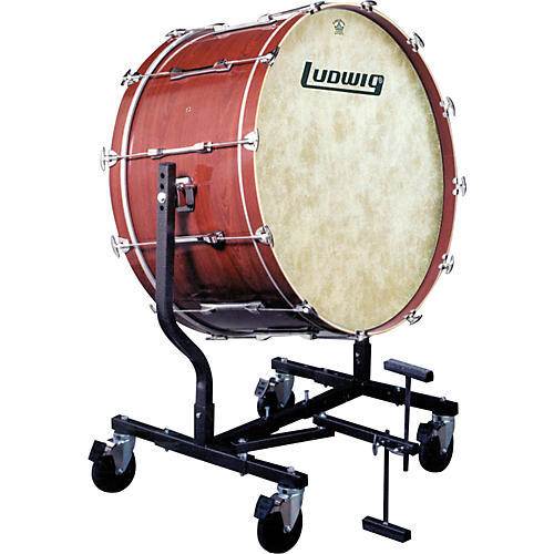 Ludwig Concert Bass Drum w/ Fiberskyn Heads & LE787 Stand Cherry Stain 16x32