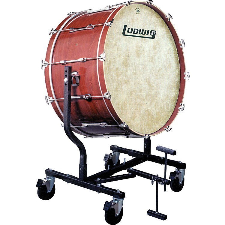 Ludwig Concert Bass Drum w/ Fiberskyn Heads & LE787 Stand Cherry Stain 18x40