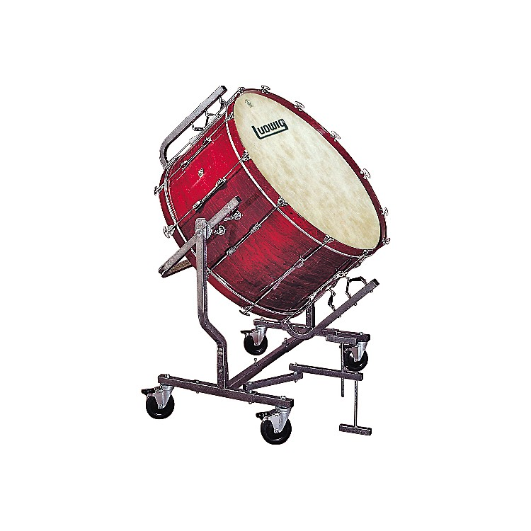 LudwigConcert Bass Drum w/ Fiberskyn Heads & LE788 StandMahogany Stain18x40