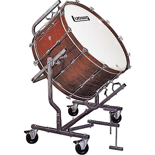 Ludwig Concert Bass Drum w/ LE788 Stand Cherry Stain 18x36