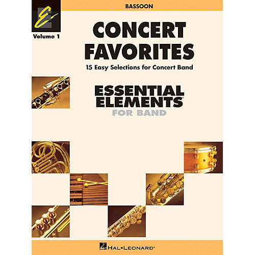 Hal Leonard Concert Favorites Vol. 1 - Bassoon Concert Band Level 1-1.5 Arranged by Michael Sweeney-thumbnail