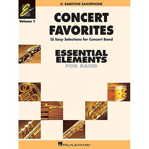 Hal Leonard Concert Favorites Vol. 1 - Eb Baritone Sax Concert Band Level 1-1.5 Arranged by Michael Sweeney