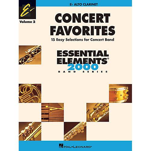 Hal Leonard Concert Favorites Vol. 2 - Alto Clarinet Concert Band Level 1-1.5 Arranged by Michael Sweeney-thumbnail