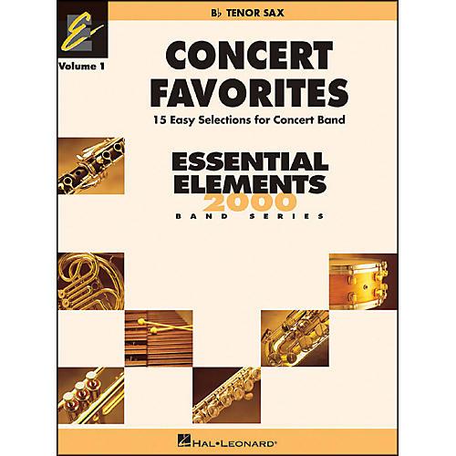 Hal Leonard Concert Favorites Vol1 Bb Tenor Sax