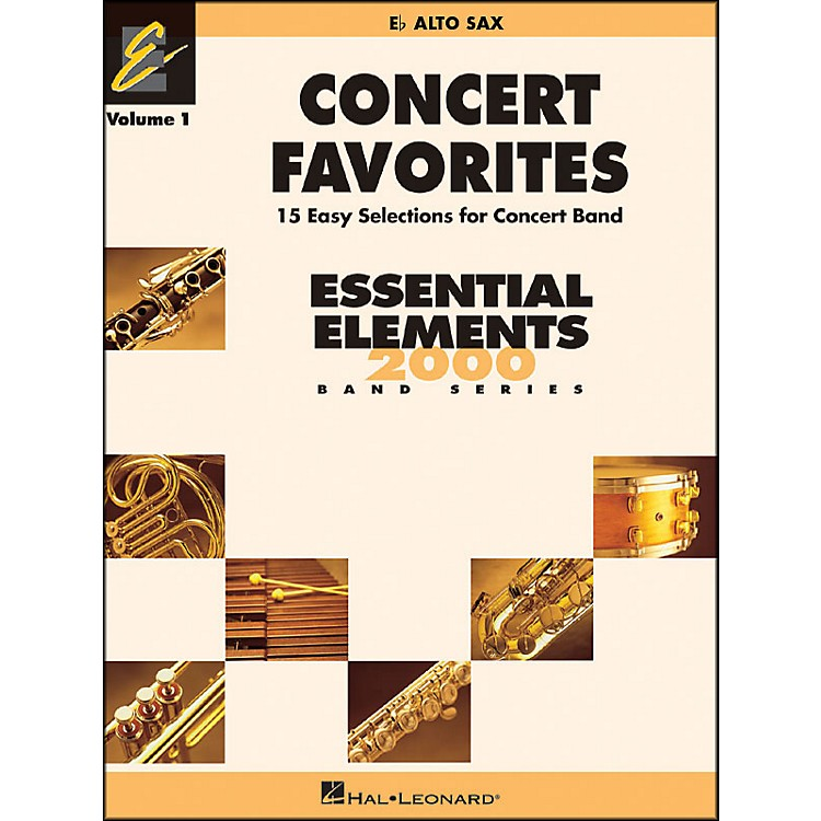 Hal Leonard Concert Favorites Vol1 Eb Alto Sax
