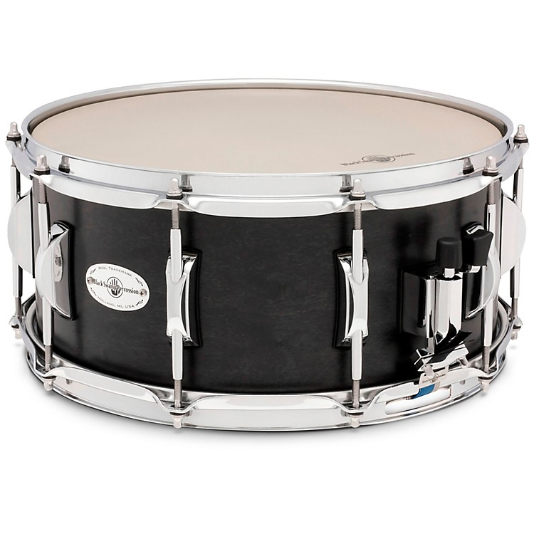 Black Swamp Percussion Concert Maple Shell Snare Drum Concert Black 6.5 x 14 Inch