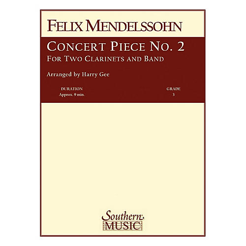 Southern Concert Piece No. 2 Concert Band Level 3 Composed by Felix Mendelssohn Arranged by Harry Gee-thumbnail