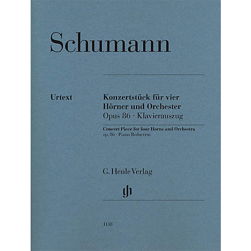G. Henle Verlag Concert Piece for Four Horns and Orchestra, Op. 86 Henle Music Softcover by Schumann-thumbnail