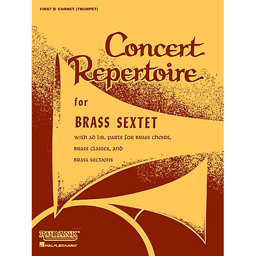 Rubank Publications Concert Repertoire for Brass Sextet (3rd and 4th Cornet/Trumpet (opt.)) Ensemble Collection Series-thumbnail