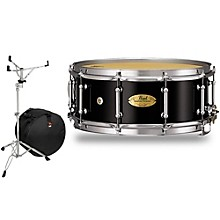 Pearl Concert Series Snare Drum with Stand and Free Bag 14 x 5.5 in. Piano Black