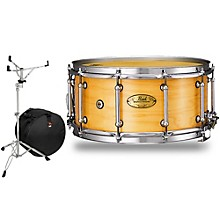 Pearl Concert Series Snare Drum with Stand and Free Bag 14 x 6.5 in. Natural