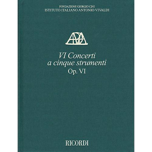 Ricordi Concerti Op. VI a cinque strumenti Critical Ed Full Score, Hardbound with Commentary by Antonio Vivaldi