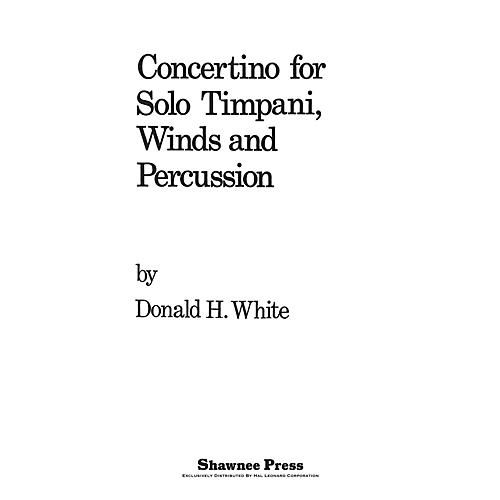 Shawnee Press Concertino For Solo Timpani, Winds And Percussion Concert Band Arranged by Donald-thumbnail