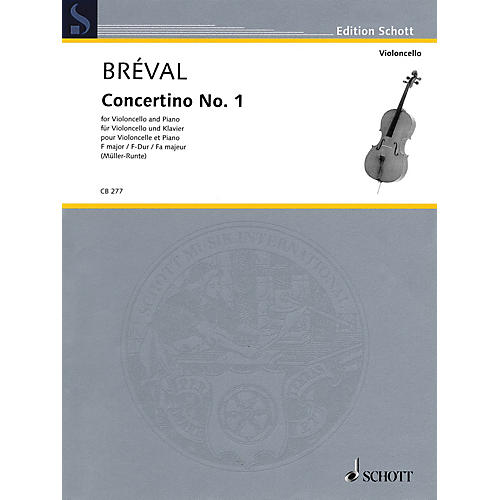 Schott Concertino No. 1 in F Major (Cello and Piano) String Series Softcover