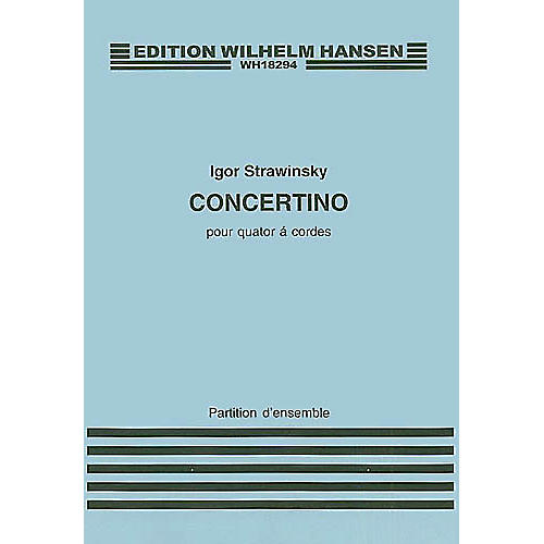 Wilhelm Hansen Concertino for String Quartet Music Sales America Series Composed by Igor Stravinsky-thumbnail