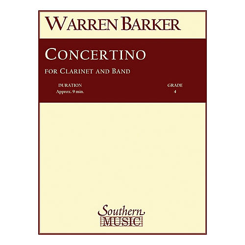 Southern Concertino (with Clarinet Solo) Concert Band Level 4 Composed by Warren Barker-thumbnail