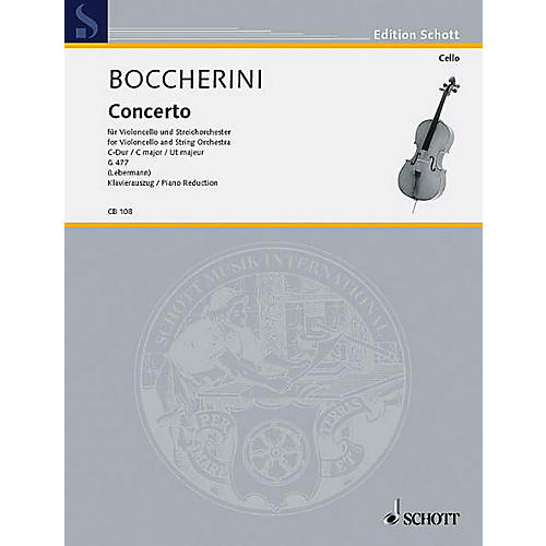 Schott Concerto 1 C Major (Cello and String Orchestra, piano reduction) Schott Series-thumbnail