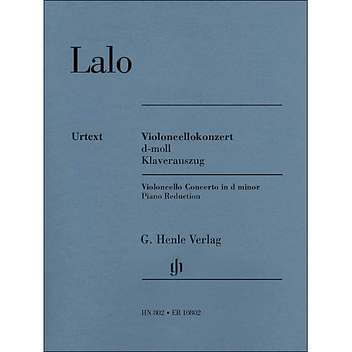 G. Henle Verlag Concerto D Minor for Violoncello And Orchestra Piano Reduction By Lalo / Jost-thumbnail