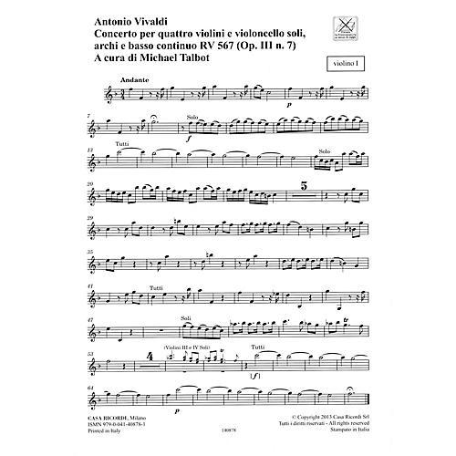 Ricordi Concerto F Major, RV 567, Op. III, No. 7/Variant of Op. 3, No. 7 String Orchestra by Antonio Vivaldi-thumbnail